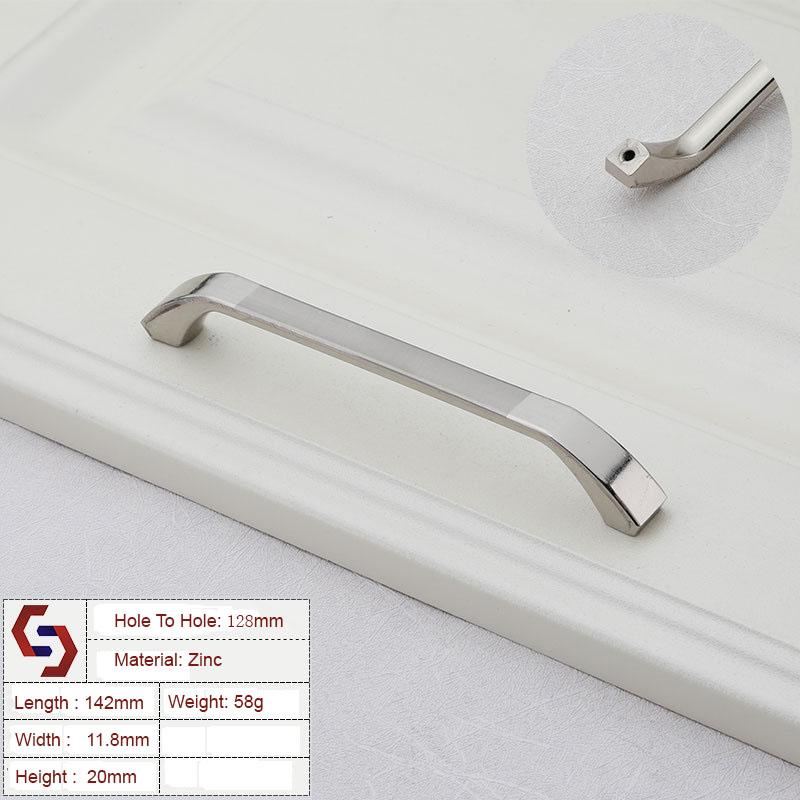 Zinc Kitchen Cabinet Handles Bar Drawer Handle Pull 96MM 128MM
