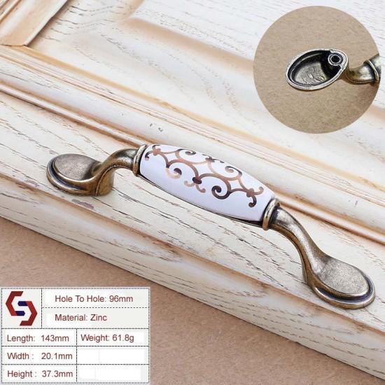 Zinc Kitchen Cabinet Handles Drawer Bar Handle Pull 96MM