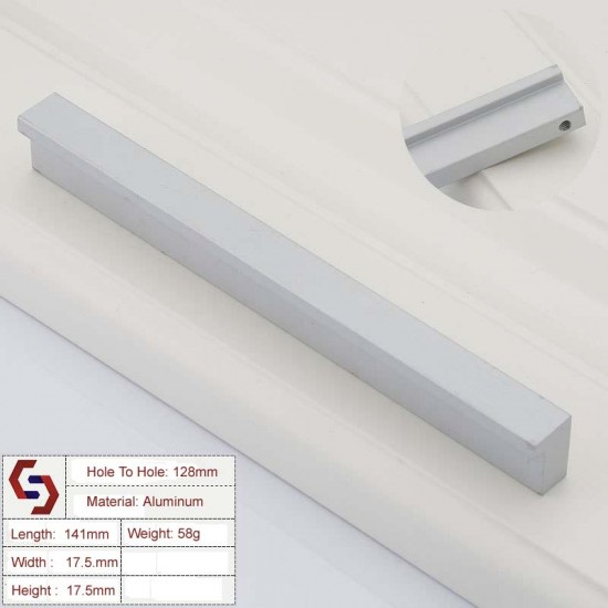 Zinc Kitchen Cabinet Handles Drawer Bar Handle Pull 96mm - 1160mm