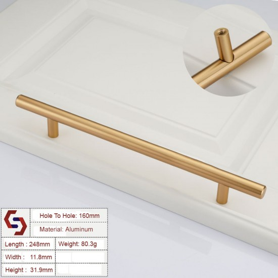 Stainless Steel Kitchen Cabinet Handles Bar Drawer Handle Pull 96 128 192 320MM
