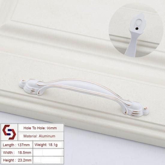 Aluminium White Kitchen Cabinet Handles Bar Drawer Handle Pull 96 128MM