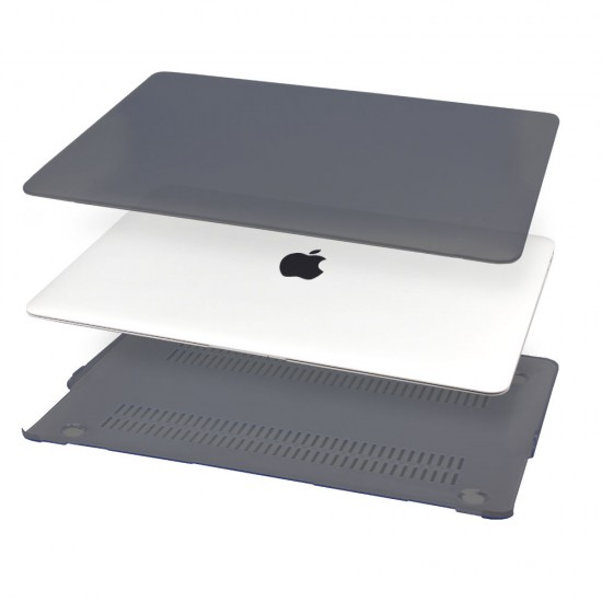 Matte Frosted Case Shell +Keyboard cover Mac MacBook Pro Air - Black