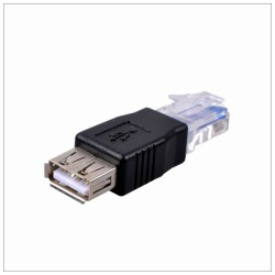 Ethernet LAN RJ45 Male to USB A Female 10/100 Mbps Network Adapter Connector