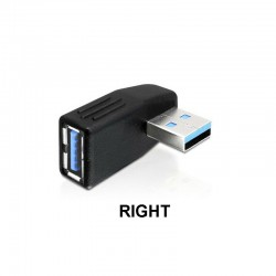 USB 3.0 Vertical Left Right Male to Mini USB Female Plug Adapters