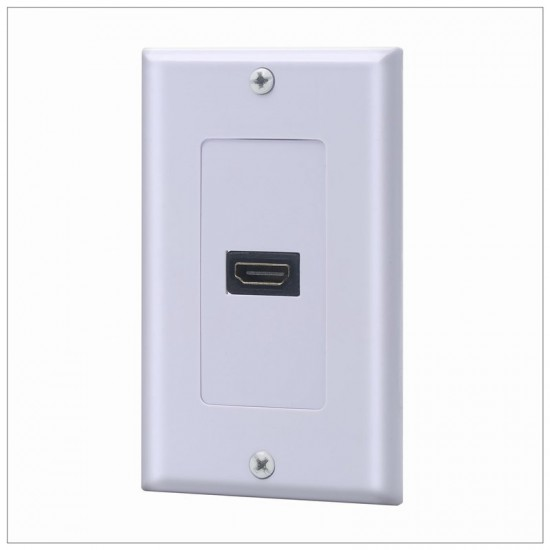 1 Port HDMI Wallplate - Supports 4K, 3D Wall Plate