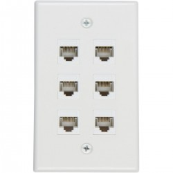 Ethernet Wall Plate 6 Port Cat6 Ethernet Cable Wall Plate Adapter