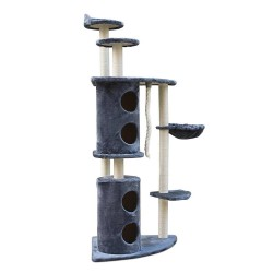 i.Pet 170cm Multi Level Cat Scratching Post - Grey
