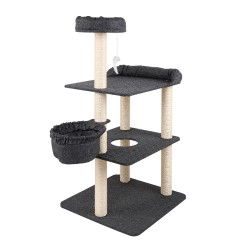 i.Pet 132cm Multi Level Cat Scratching Tree Post - Grey