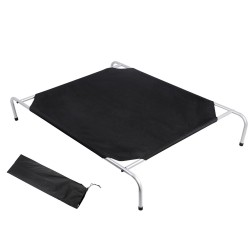 i.Pet Extra Large Canvash Heavy Duty Pet Trampoline - Black