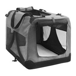 i.Pet Extra Large Portable Soft Pet Carrier- Grey