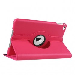 hot pink color 360 Rotate Leather Case Cover For Apple iPad 2 3 4  air pro