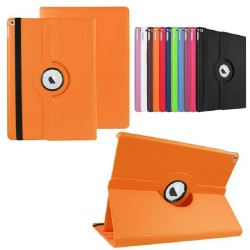 orange color 360 Rotate Leather Case Cover For Apple iPad 2 3 4  air pro
