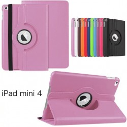 Pink color 360 Rotate Leather Case Cover For Apple iPad 2 3 4  air pro