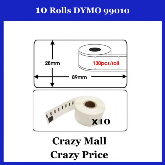 10x 99010 Compatible Address thermal Label for DYMO SEIKO Printer 28x 89mm