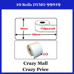 10x 99019 SD99019 Address Thermal Label 59x190mm For Dymo Seiko Writer Printer