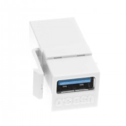 Keystone Jack-USB 3.0 A Female to A Female Coupler Adapter wall plate