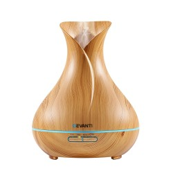 400ml 4 in 1 Aroma Diffuser remote control - Light Wood