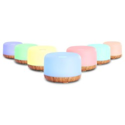 Aroma Diffuser Aromatherapy LED Night Light Air Humidifier Purifier Light Wood Grain 500ml
