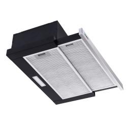 Rangehood Range Hood Stainless Steel Slide Out Kitchen Canopy 60cm 600mm Black