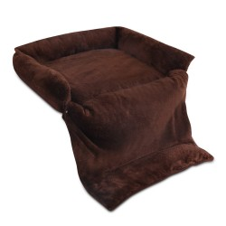 i.Pet Large 3 in 1 Foldable Pet Bed - Brown