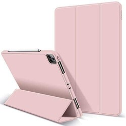 iPad Pro 11 Inch 2020 Soft Tpu Smart Premium Case Auto Sleep Wake Stand Cover Pencil holder Pink