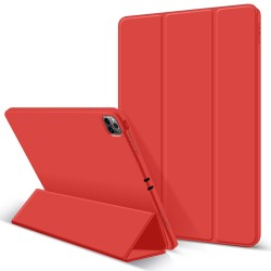 iPad Pro 11 Inch 2020 Soft Tpu Smart Premium Case Auto Sleep Wake Stand Cover Pencil holder Red