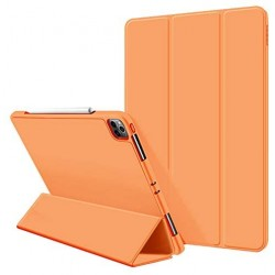iPad Pro 11 Inch 2020 Soft Tpu Smart Premium Case Auto Sleep Wake Stand Cover Pencil holder Orange