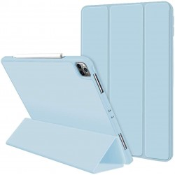 iPad Pro 11 Inch 2020 Soft Tpu Smart Premium Case Auto Sleep Wake Stand Cover Pencil holder ice blue