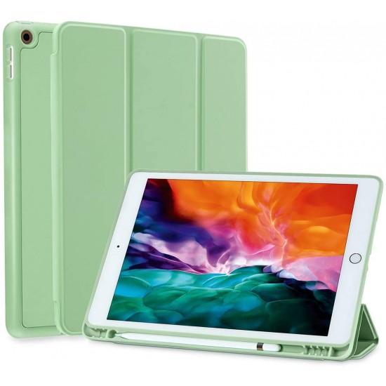 IPad 10.2 2019 7th Pencil Holder Slim Smart TPU Soft Case Green