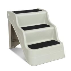 i.Pet 3 Step Portable Folding Non Slip Ladder - Beige