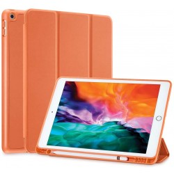 IPad 10.2 2019 7th Pencil Holder Slim Smart TPU Soft Case Orange