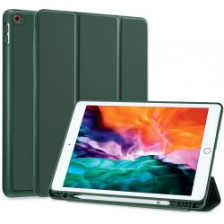 IPad 10.2 2019 7th Pencil Holder Slim Smart TPU Soft Case Midnight Green