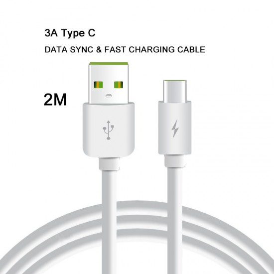 2M 3A USB 2.0 A Male Type c USB C 3.1 Cable Male Power data Fast Charging Cable