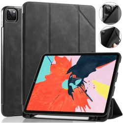 iPad Pro 11 Case 2020/2018 with Pencil Holder Protective Case Cover Soft TPU Black