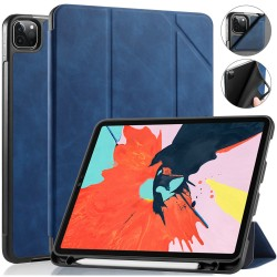 iPad Pro 11 Case 2020/2018 with Pencil Holder Protective Case Cover Soft TPU Blue