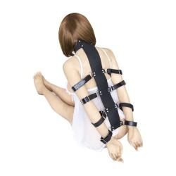 Leather Neck Hand Bondage Lock Belt Buckles Restraint sex bondage toys