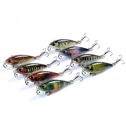 8x Popper Poppers 4.8cm Fishing Lure Lures Surface Tackle Fresh Saltwater