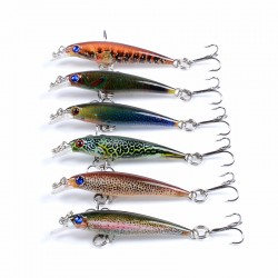 6x Popper Poppers 5cm Minnow Fishing Lure Lures Surface Tackle Fresh Saltwater