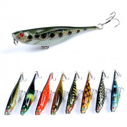 9x Popper Poppers 9.9cm Fishing Lure Lures Surface Tackle Fresh Saltwater