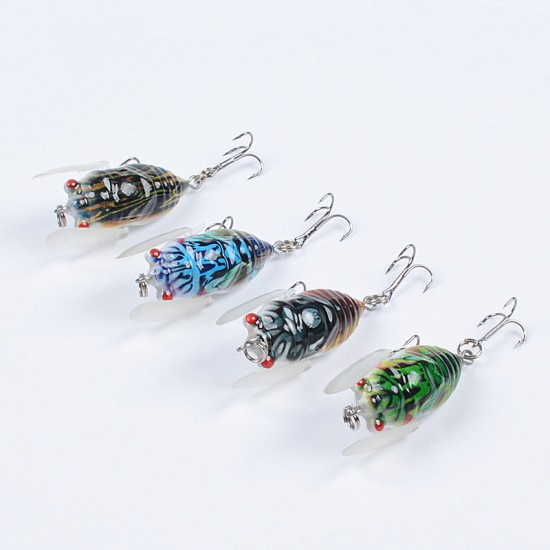 4x Popper Poppers 5cm Fishing Lure Lures Surface Tackle Fresh Saltwater