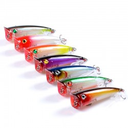 7x Popper Minnow 7.8cm Fishing Lure Lures Surface Tackle Fresh Saltwater