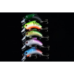 5x 5.5cm Popper Crank Bait Fishing Lure Lures Surface Tackle Saltwater