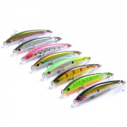 8x Popper Minnow 11.2cm Fishing Lure Lures Surface Tackle Fresh Saltwater