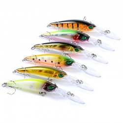 6x Popper Minnow 9.4cm Fishing Lure Lures Surface Tackle Fresh Saltwater