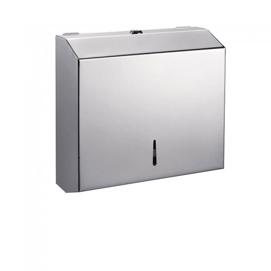 Commercial Stainless Steel Chrome Toilet Paper Tissue Holder Dispenser