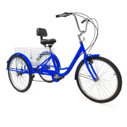 Adult Tricycles 7 Speed Adult Trikes 24 inch 3 Wheel Bikes Bicycles Cruise Trike
