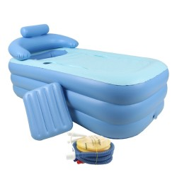 Foldable Portable Inflatable Blowup PVC Bath Tub Home Indoor Travel Spa Relaxing