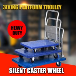 300kg Industrial Warehouse Heavy Duty Platform Trolley Truck Foldable Cart