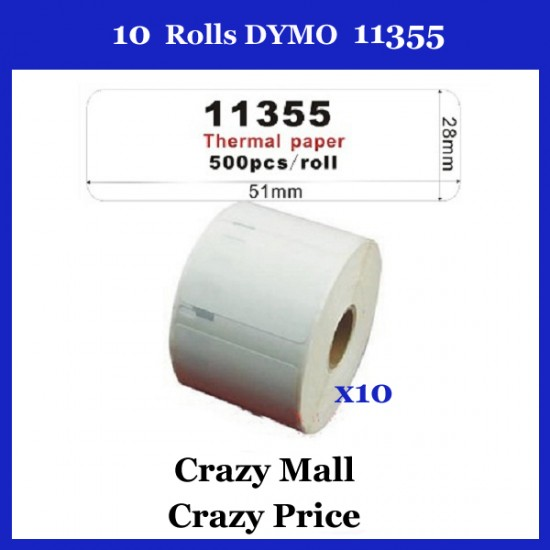 10x 11355 SD11355 thermal label 50mm x 12mm/500 Per Roll for Dymo labelWriter