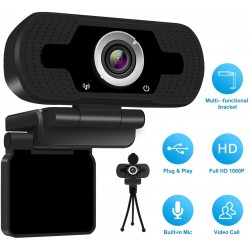 1080p HD Webcam USB Desktop Computer Laptop Camera Video Calling Built-in Mic